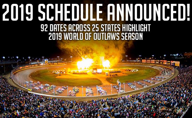 World Of Outlaws Schedule 2019 2019 World of Outlaws Schedule   Big West Racing